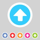 Flat game graphics icon arrow up Stock Photography