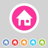 Flat game graphics icon home Stock Image