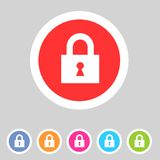 Flat game graphics icon lock Royalty Free Stock Photography