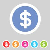 Flat game graphics icon money Royalty Free Stock Photos