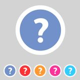 Flat game graphics icon question Stock Photography