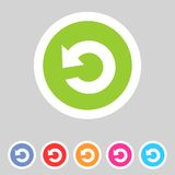 Flat game graphics icon repeat Stock Photos