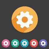 Flat game graphics icon settings Royalty Free Stock Photo