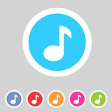 Flat game graphics icon sound Royalty Free Stock Image