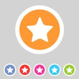 Flat game graphics icon star Stock Photography