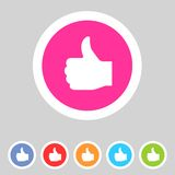 Flat game graphics icon thumbs up Stock Photos
