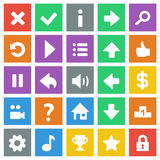 Flat game icons. Round game icons set. Check my profile for more game graphics Stock Photography