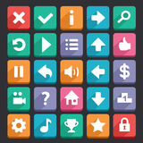 Flat game icons. Set. Check my profile for more game graphics Stock Image