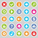 Flat game icons 8 Stock Photos