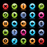 Flat game icons Royalty Free Stock Image
