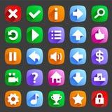 Flat game icons Stock Image