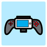 Flat gamepad icon. Simple flat gamepad icon vector Stock Photos