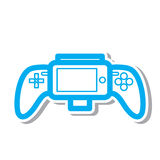 Flat gamepad icon. Simple flat gamepad icon vector Stock Photography
