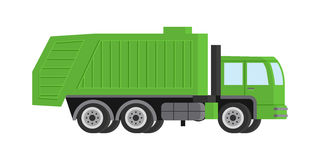 Flat garbage truck. Stock Images