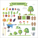 Flat  garden Royalty Free Stock Images