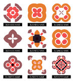 Flat geometric business symbols. Icon set Stock Images