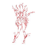 Flat geometric design of dancing samba queen Royalty Free Stock Photos