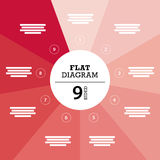 Flat geometric diagram template for your business presentation with text areas and icons. Royalty Free Stock Photo