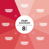 Flat geometric diagram template for your business presentation with text areas and icons. Royalty Free Stock Photos