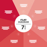 Flat geometric diagram template for your business presentation with text areas and icons. Stock Photography