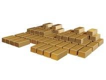 Flat gold bricks Royalty Free Stock Images