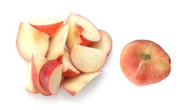 Flat Golden Peaches Royalty Free Stock Photos