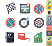 Flat graphic style car icons Stock Photo