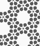 Flat gray with flower forming grid Royalty Free Stock Image