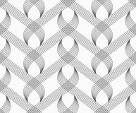 Flat gray with hatched overlapping integrals Stock Photography