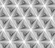 Flat gray with hatched triangles Stock Photography