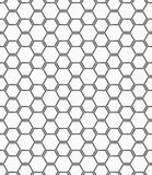 Flat gray with hexagonal bee grid Stock Photos