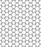 Flat gray with hexagonal bee grid Stock Photos