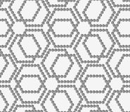 Flat gray with hexagonal complex grid Royalty Free Stock Photos