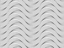 Flat gray with slim hatched ripples Stock Photo
