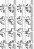 Flat gray with textured circles with continues lines Royalty Free Stock Image