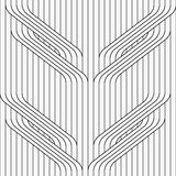 Flat gray with tree branches on continues stripes Royalty Free Stock Images