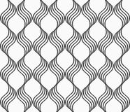 Flat gray with waves forming grid Stock Photo