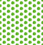Flat green apple pattern on isolated white background Royalty Free Stock Images