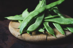 Flat Green Beans Royalty Free Stock Photos