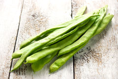 Flat green beans Royalty Free Stock Image