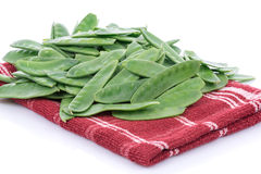 Flat green beans Royalty Free Stock Photography