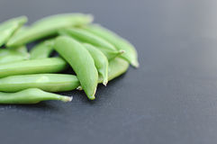 Flat Green Beans Side Stock Images