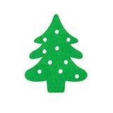 Flat green christmas tree on white background Royalty Free Stock Image