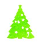 Flat green christmas tree on white. Flat green christmas tree on a white background Royalty Free Stock Photos