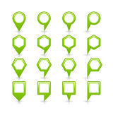 Flat green color map pin sign location icon Stock Image