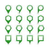 Flat green color map pin sign location icon Stock Images