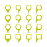 Flat green color map pin sign location icon Stock Photo