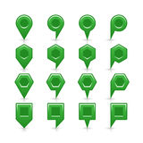 Flat green color map pin sign location icon Royalty Free Stock Photo