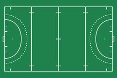 Flat green field hockey grass. Hockey field with line template. Vector stadium. Flat green field hockey grass. Hockey field with line template. Vector stadium Royalty Free Stock Image