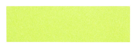 Flat green rectangular sticky note. Isolated on white background Royalty Free Stock Photos